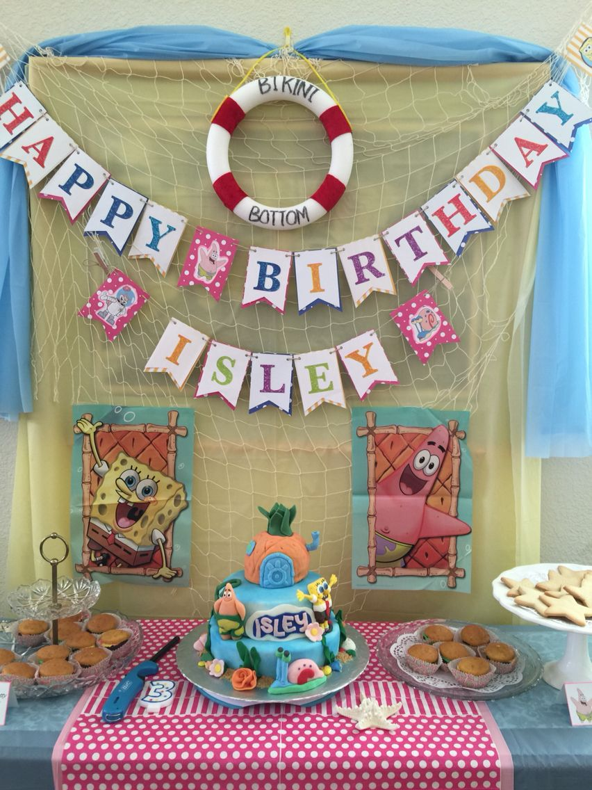 DIY Spongebob Birthday Party Decorations