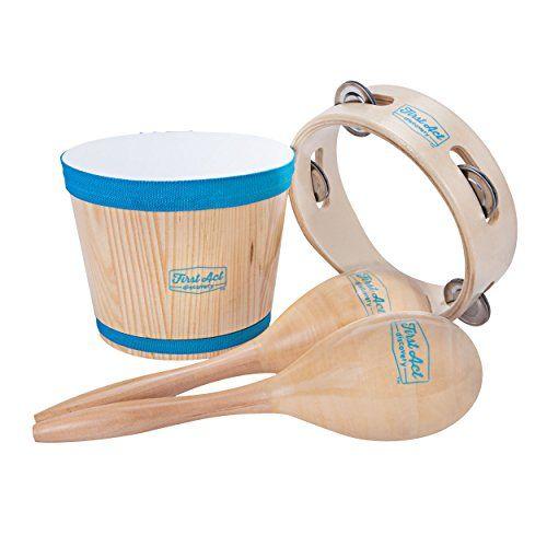 Adjustable Wood Handheld Tambourine Tunable Hand Drum Bell Percussion Musical Instrument for Kids Children Hand Tambourines Drum 6inch