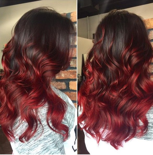 black to red ombre hair curly long hairstyle new medium hairstyles hair pinterest. Black Bedroom Furniture Sets. Home Design Ideas