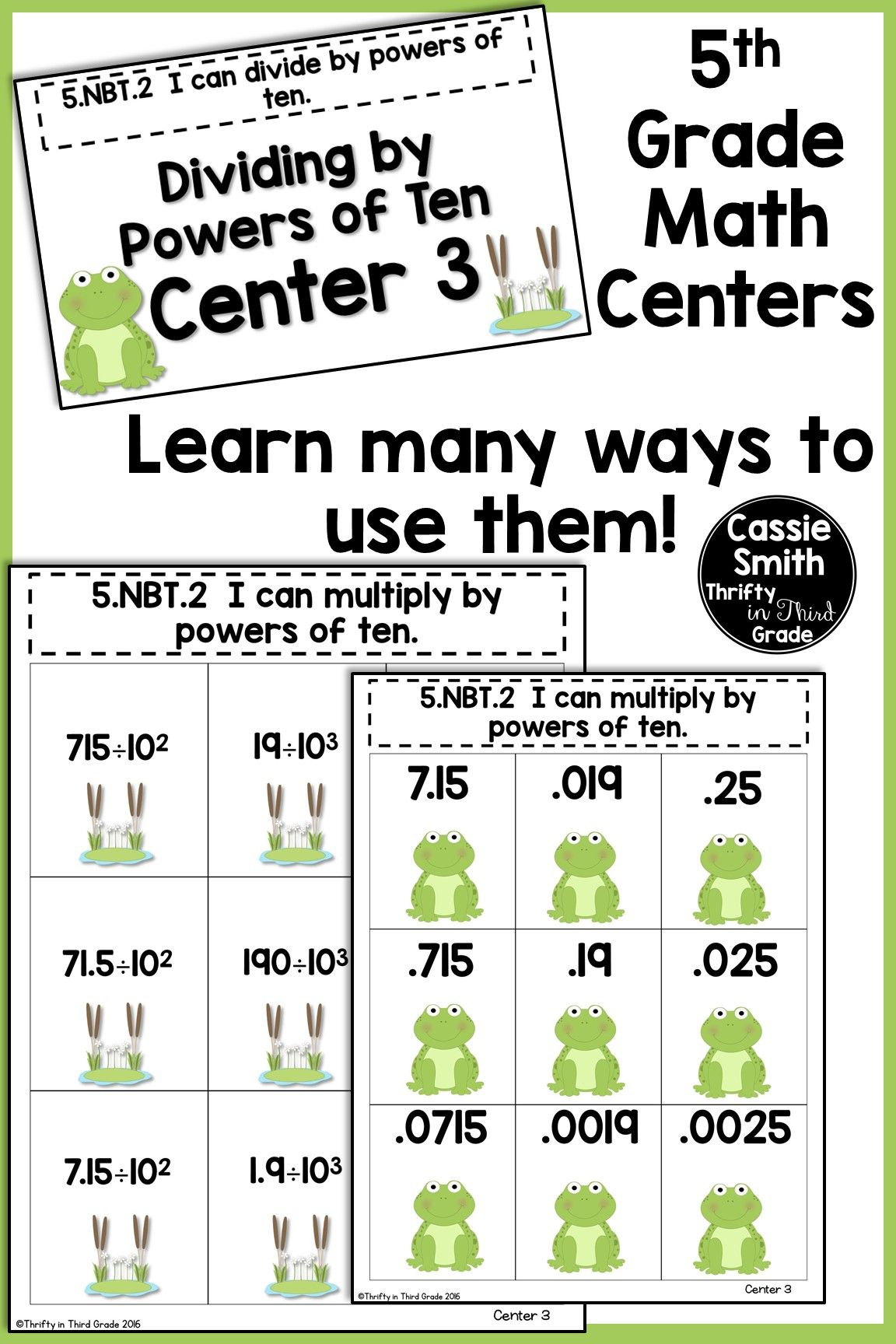 5th Grade Math Centers Covers All 5th Grade Math