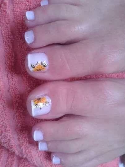 Unhas dos pés francesinha e decorada Unhas Unhas do pé decoradas, Unhas do pé e Unhas do pé  # Decoração De Unhas Do Pé