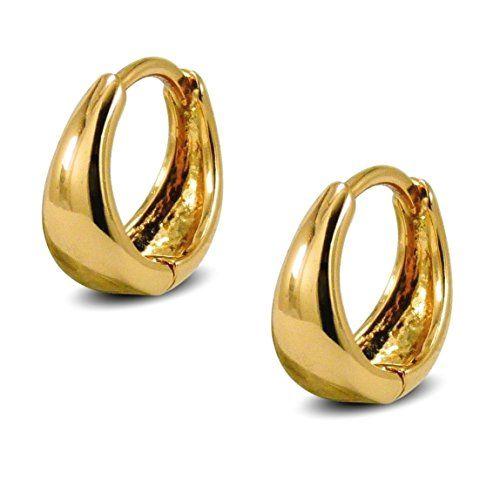 9ct Rose Gold 1cm Hoops Earrings New 375