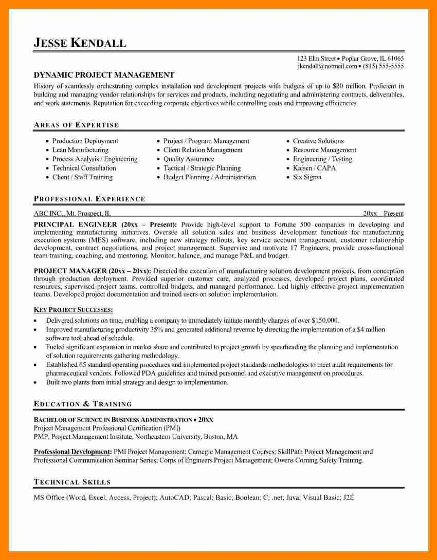 career summary sample resume sections samplesume examples project manager resumes samples with enchanting professional resumeg - Resume Sections