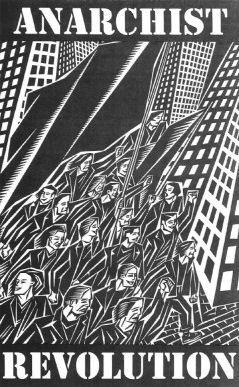 Anarchist Revolution. Black and white, anarchy, punk! Inspiration.