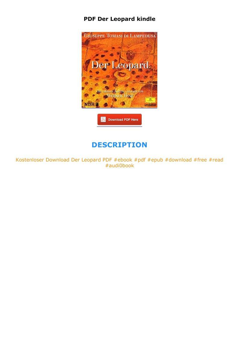 Pdf Der Leopard Kindle In 2020 Pie Chart Letters Chart