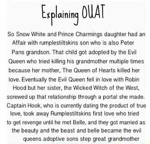 That is one complicated family tree OUAT Once upon a time funny
