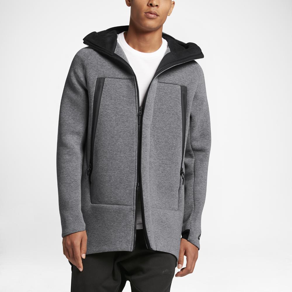 Nike Sportswear Tech Fleece Men's Parka Size XS (Grey