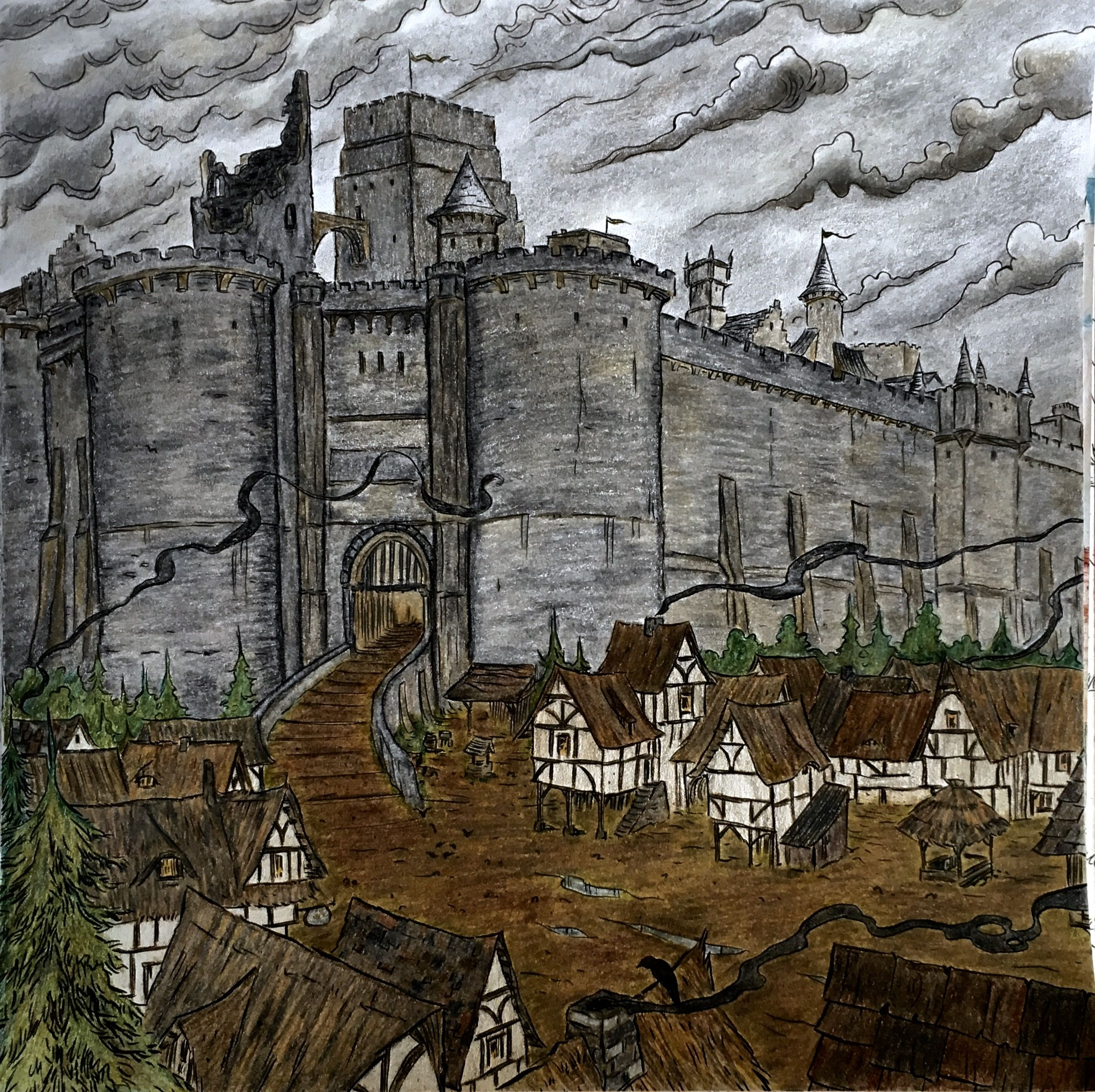 Winterfell from Game of Thrones Coloring Book