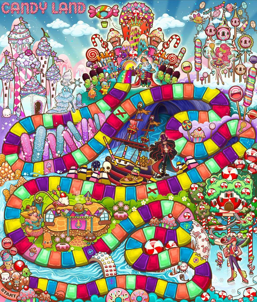 Candyland Game Board Design for HASBRO   Candyland games ...