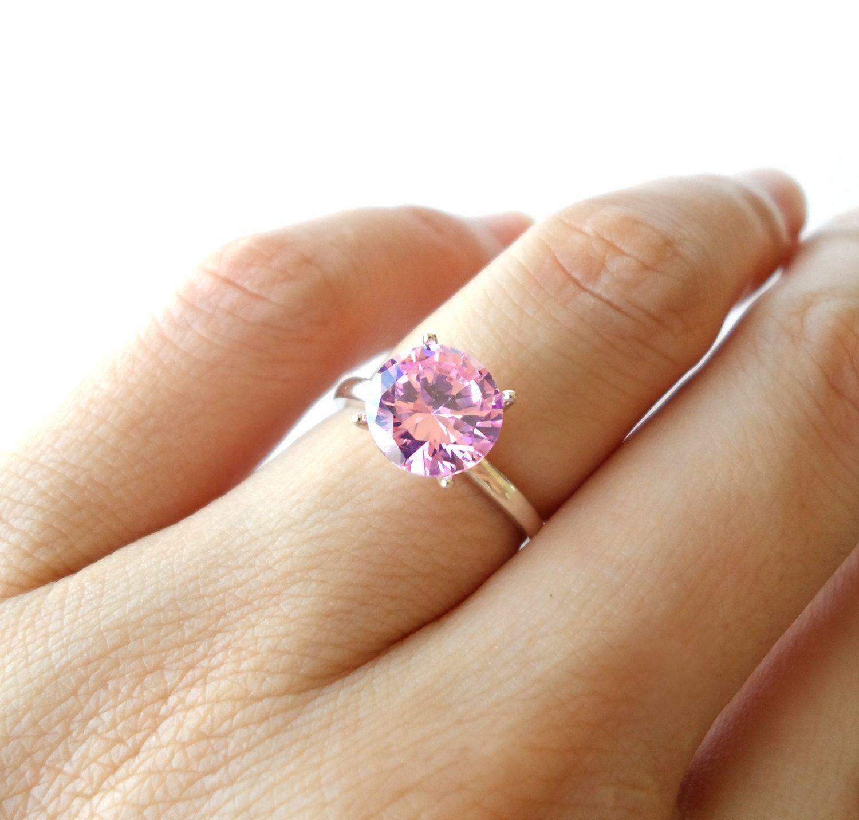 2 carat Pink Diamond Engagement Ring 4 sizes by ...