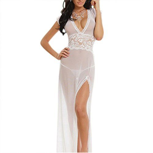 Sheer Blanche Babydoll With Robe