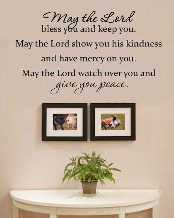 Slapart May The Lord Bless You And Keep You By Vinylmasterpieces 15 99 Vinyl Wall Decal Quote Wall Quotes Decals Vinyl Wall Art