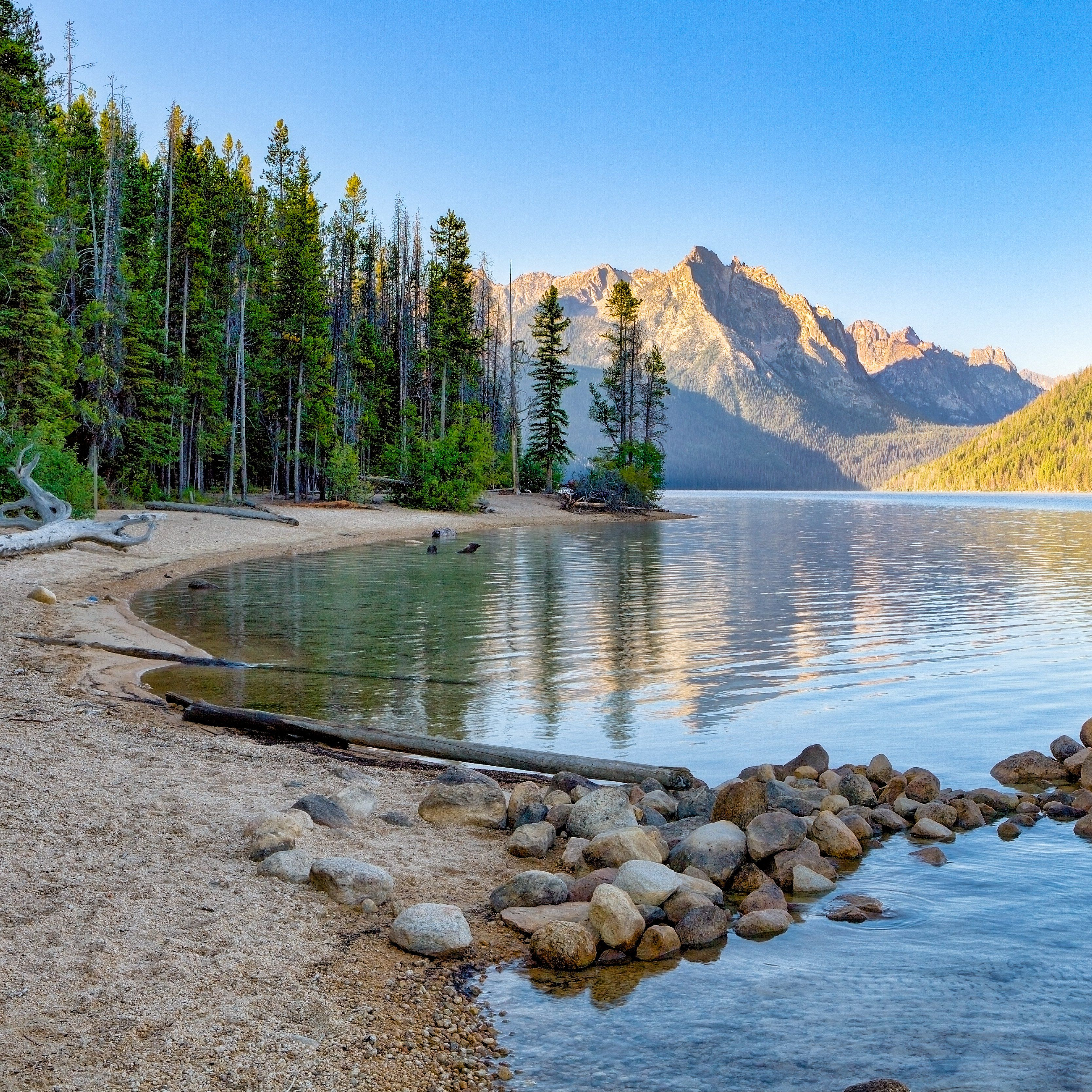 Redfish Lake in Idaho is one of the most picturesque places in the country for an active, outdoorsy getaway.