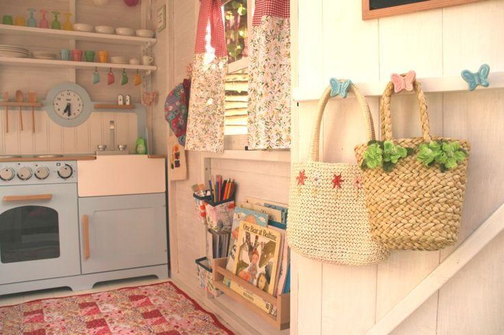 Playhouse interior ideas garden decor girls also best design images rh pinterest