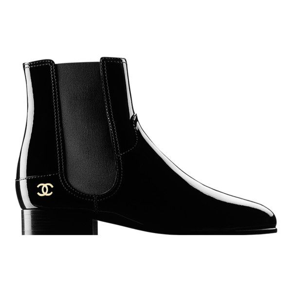 ac638ecfb4 black Chanel ❤ liked on Polyvore featuring shoes, boots, black ...