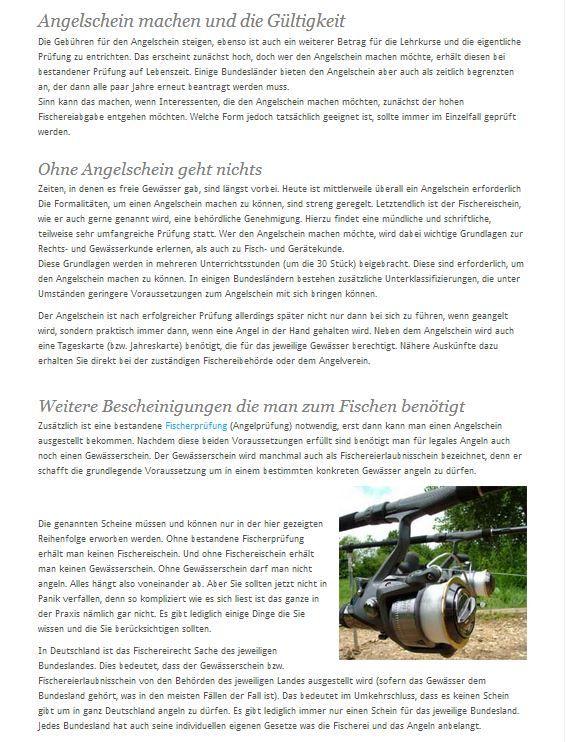 Sie möchten gerne in irgendeinem Gewässer angeln und Fische fangen?  Dazu ist in Deutschland grundsätzlich erstmal ein Angelschein notwendig, sofern es sich nicht um ein privates Gewässer  handelt für das Sie die Erlaubnis des Besitzers haben. www.angelschein.net