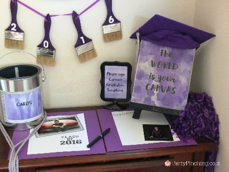 Decorating For A Graduation Party the world is your canvas, graduation open house ideas, art