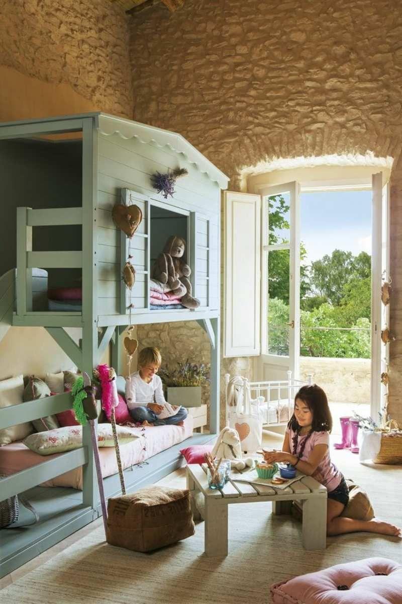 Abenteuerbett selber bauen  Kinder Abenteuerbett mit romantischem Baumhaus Design | Детская ...