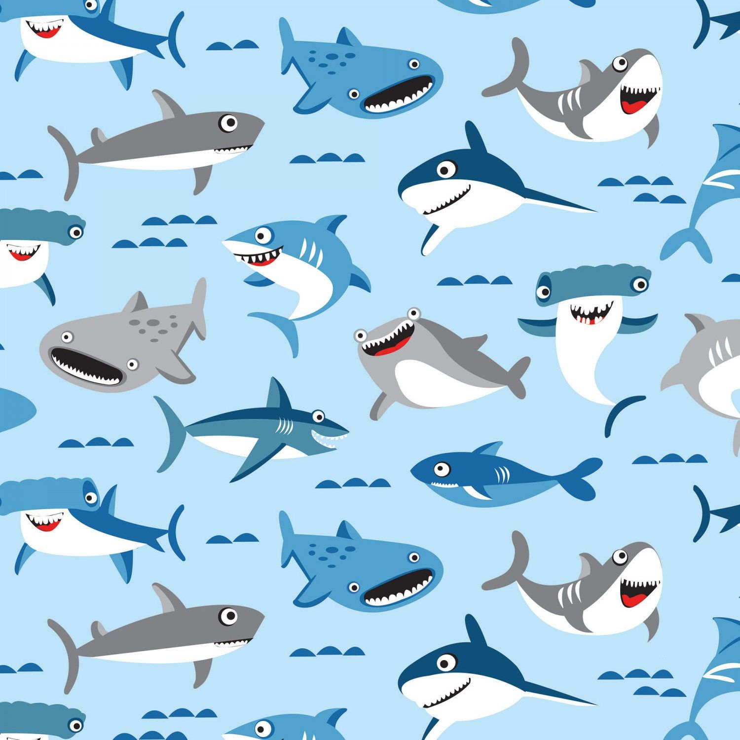 Shark Fabric Shark Town Ocean Fabric Boys Fabric Children S Fabric By Riley Blake 6350 Shark Illustration Ocean Fabric Shark