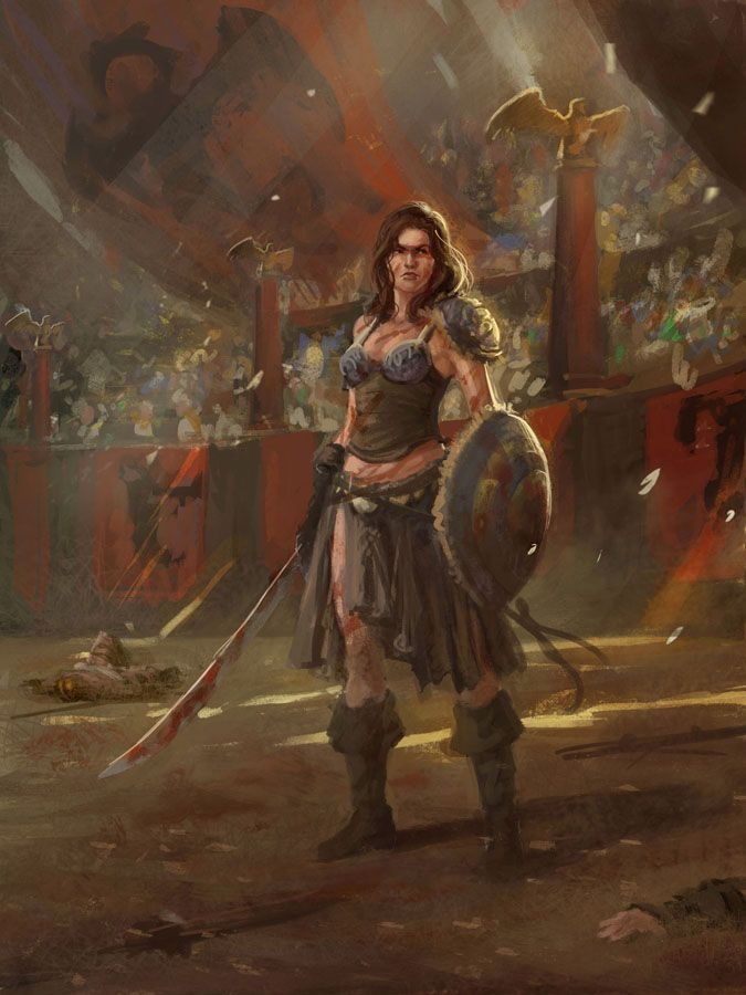Barbarian Gladiatrix | Male and Female Warriors ...