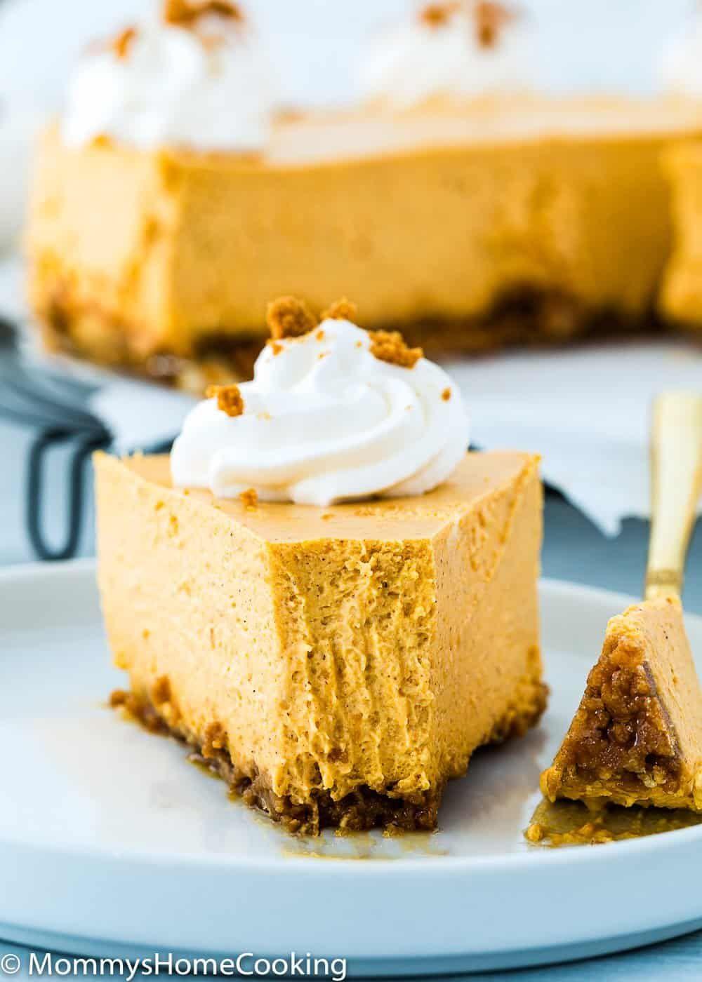 Eggless Pumpkin Cheesecake Recipe Recipe In 2020 Cheesecake Recipes Pumpkin Cheesecake Recipes Pumpkin Cheesecake