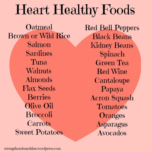 Heart Healthy Foods  Strength and Sunshine RebeccaGF666