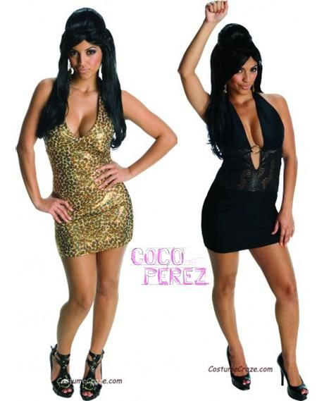 Snooki Jersey Shore Nicole Polizzi Black Fancy Dress Up Halloween Adult Costume
