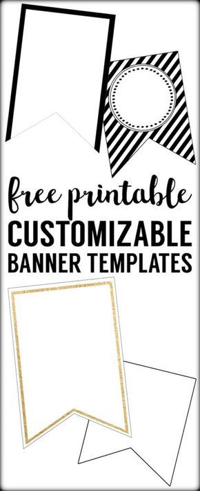 Free Printable Banner Templates {Blank Banners Free printable - pennant banner template