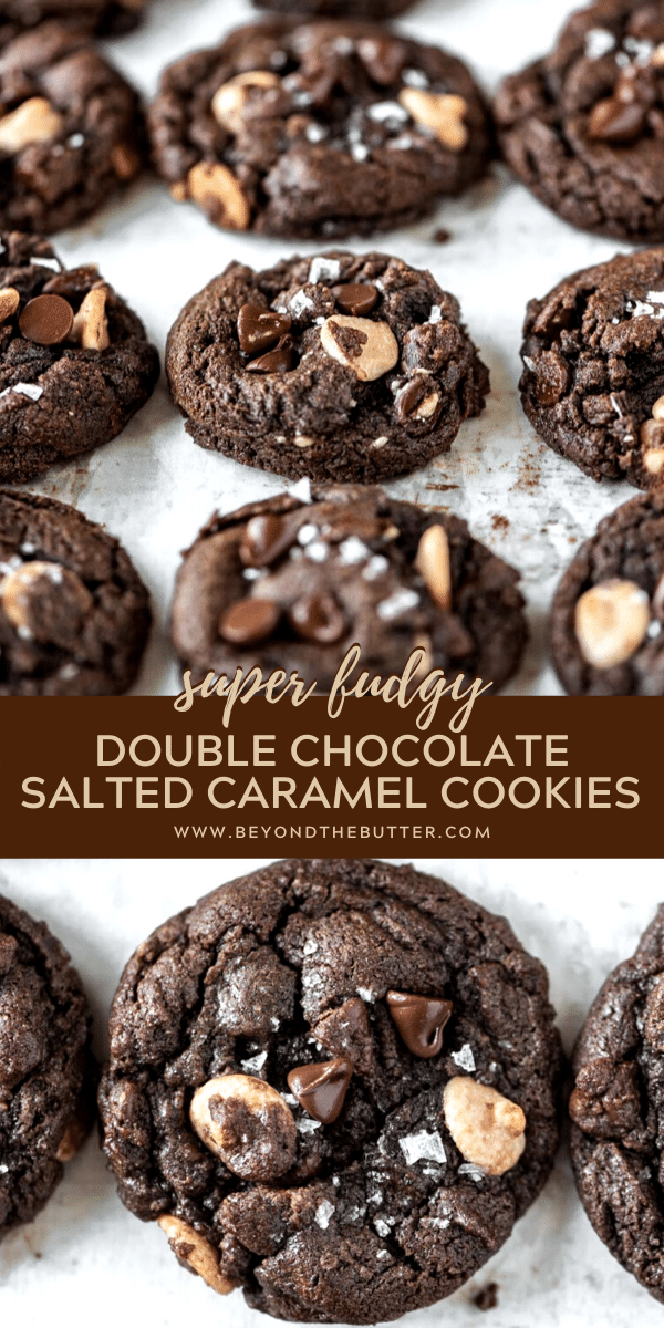 Photo of Double Chocolate Salted Caramel Cookies