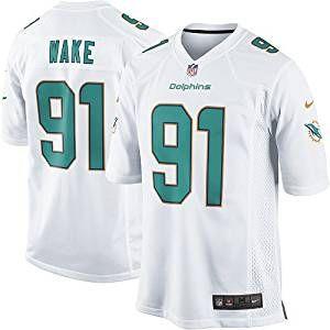 best service 68006 45849 Mens Miami Dolphins #91 Cameron Wake Jersey White M: Amazon ...