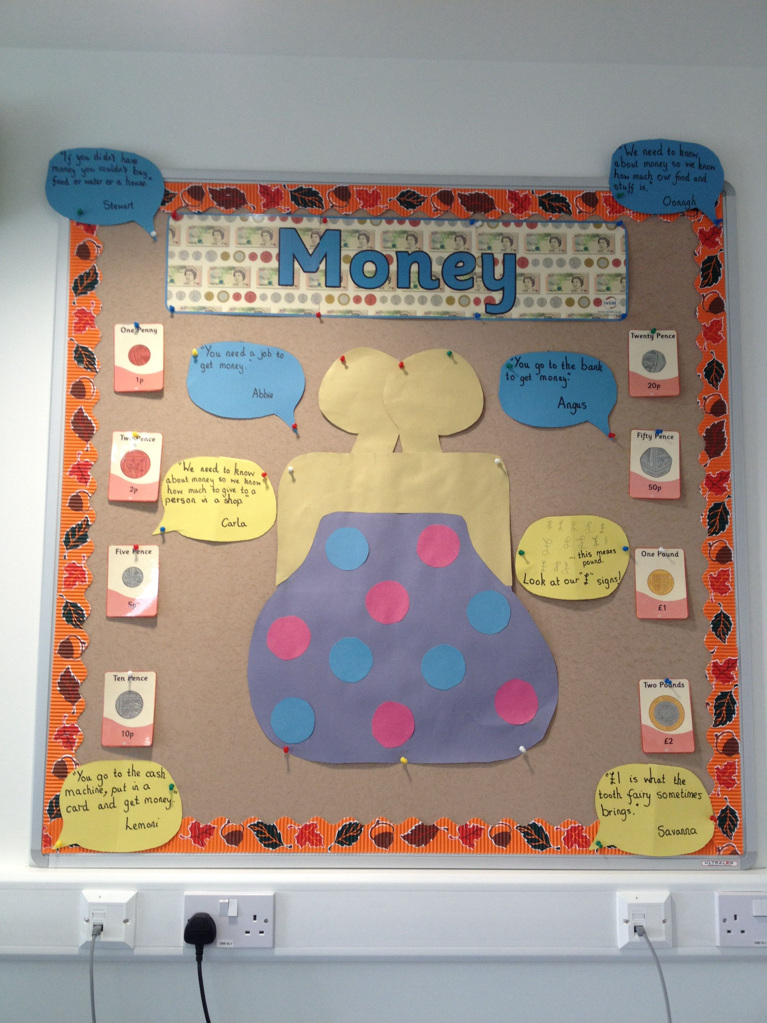 money display ks1 teaching ideas teaching money maths display maths area. Black Bedroom Furniture Sets. Home Design Ideas