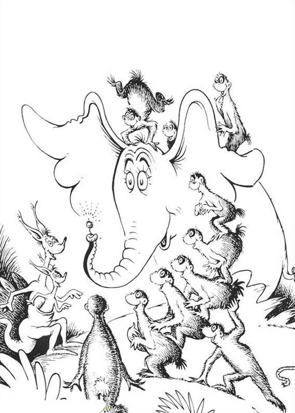 All Horton Hears A Who Chracters Amazed By Horton Flower Coloring Pages Bulk Color Flower Coloring Pages Coloring Pages Coloring Pictures
