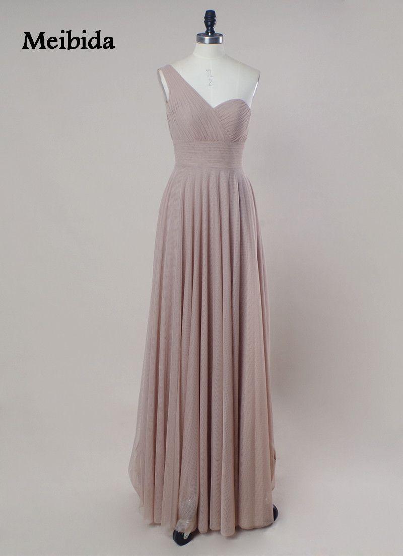 Oneshoulder backless simple evening dress sleeveless long
