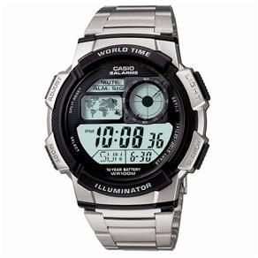 edefefb4cea Relógio Masculino Digital Casio AE-1000WD-1AVDF - Prateado ...