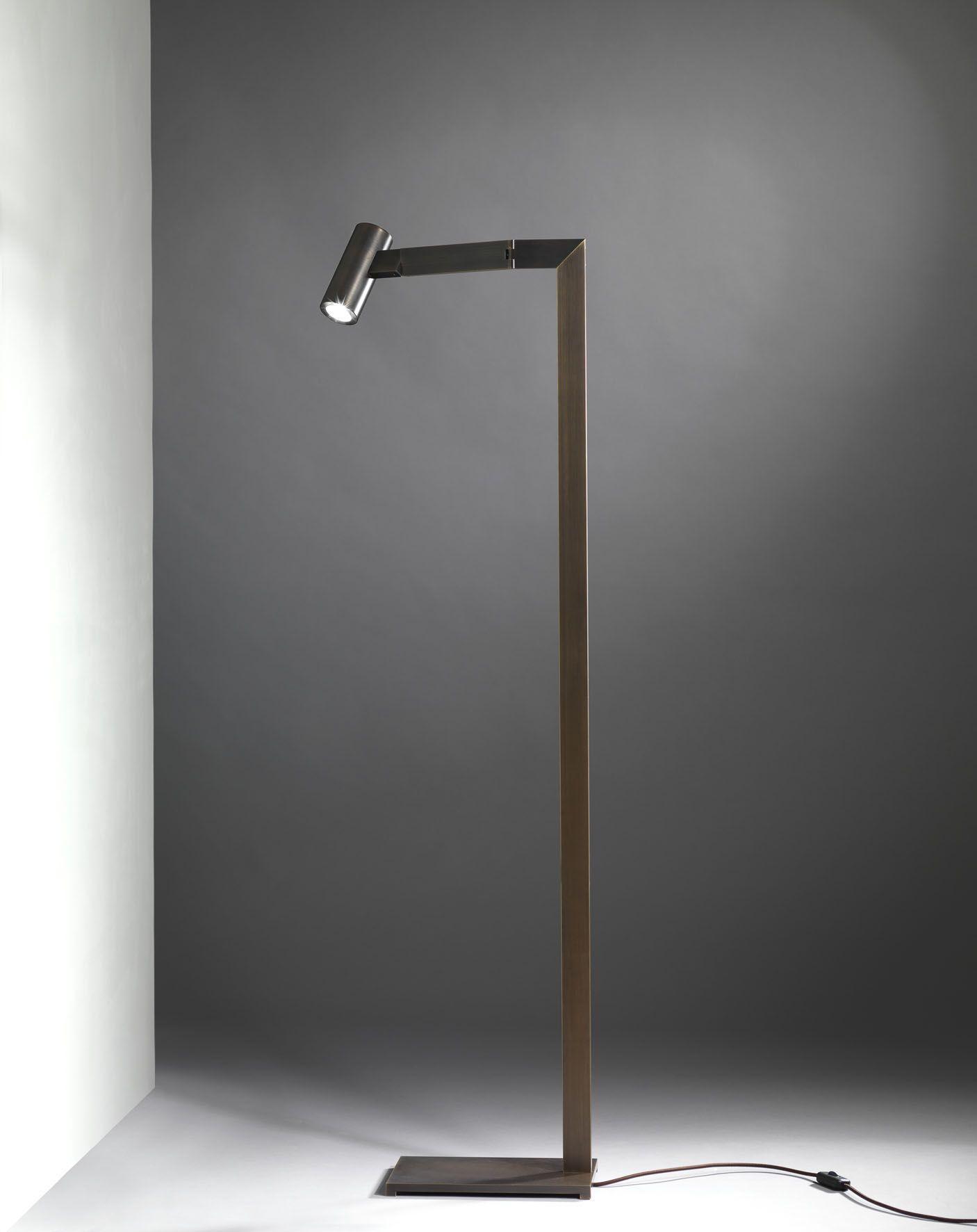 Lampadario Con Punto Luce Decentrato mahari floor lamp burnished | industriale