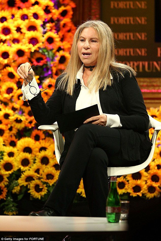 Blame game:Barbara Streisand is holding President Donald Trump responsible for making her gain weight. She is pictured in October 2016