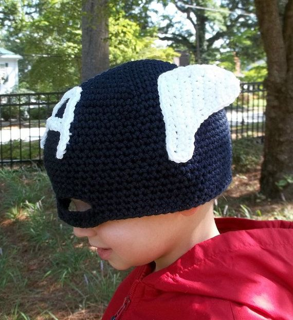 Captain America Crochet Hat | Crochet | Pinterest