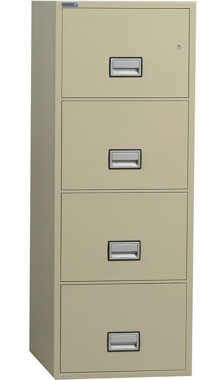 4 Drawer Fireproof Key Lock File Safe Filing Cabinet Hanging