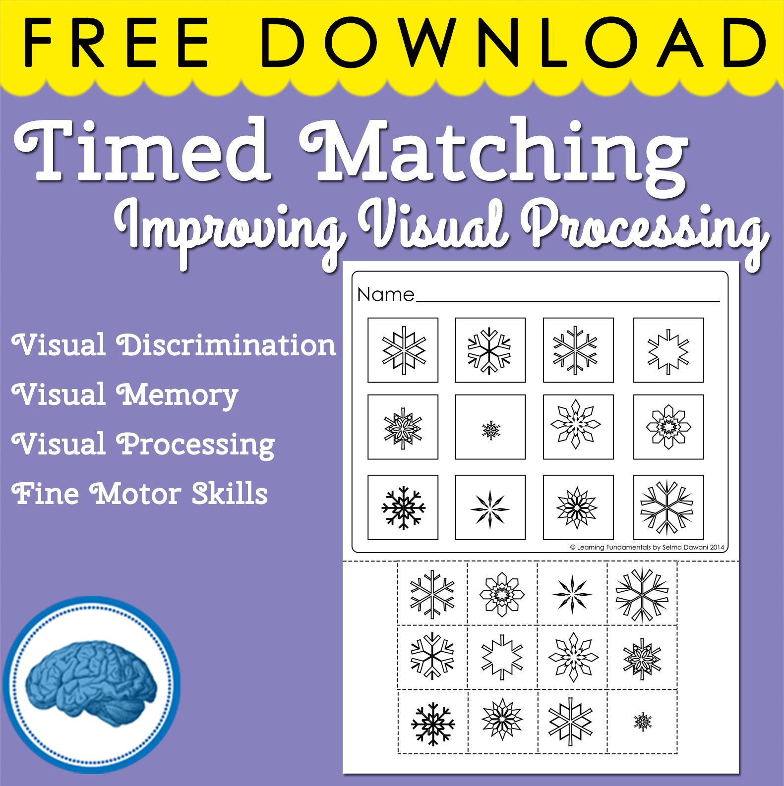 Pre Literacy Visual Discrimination Visual Processing 1