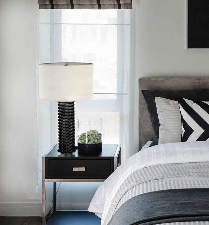 Schlafzimmer Einrichten Moderne Möbel Dunkler Bodenbelag