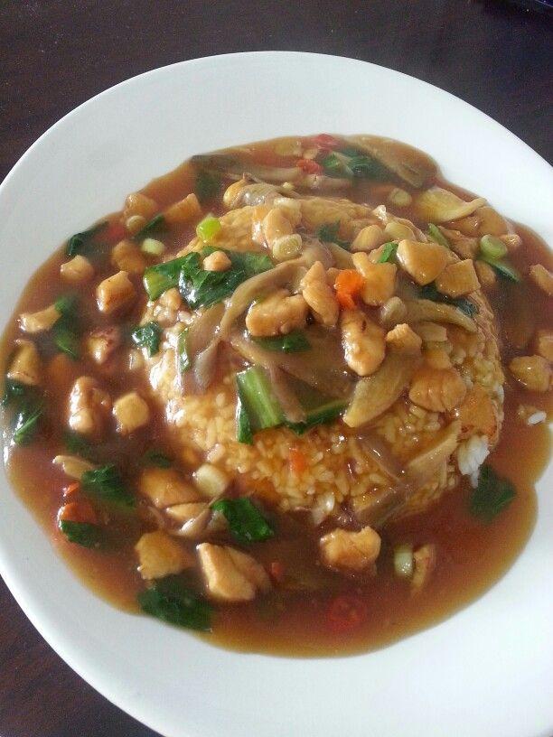 Nasi Siram Ayam Jamur Made By Gege Masakan Jamur