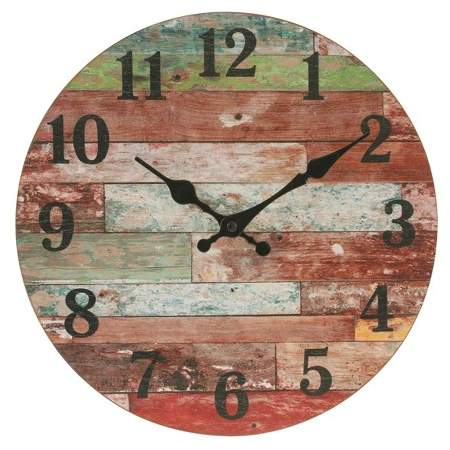 Farmhouse Worn Wall Clock 12 X 12 Stonebriar Collection Wood Wall Clock Vintage Wall Clock Wall Clock Wooden
