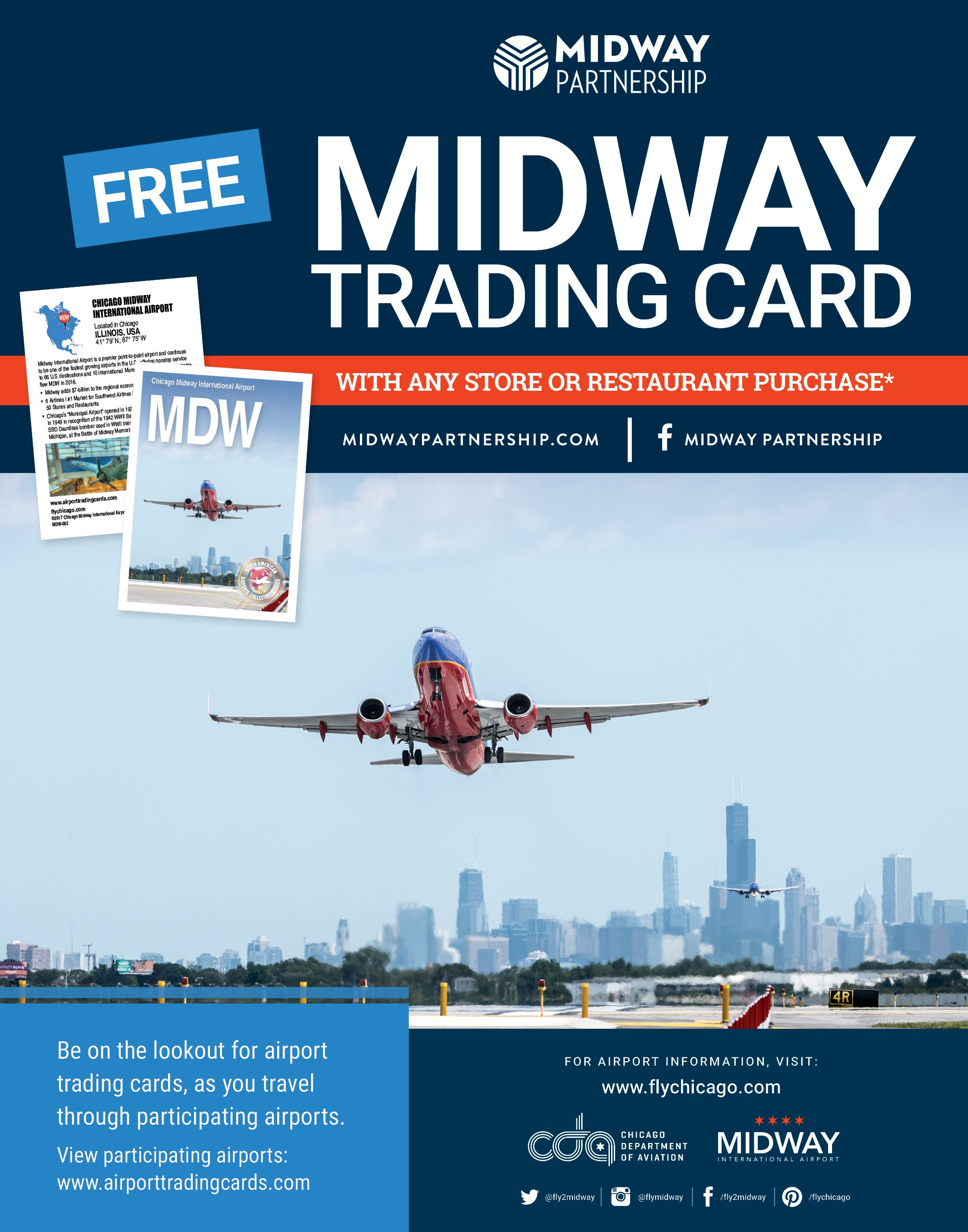 For A Limited Time Get A Free Midway Airport Trading Card With Any