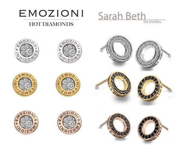Emozioni Hot Diamonds Earrings!  These are brand new in their 'new' emozioni range! WE LOVE THEM! Very pretty and subtly sleek, and not too pricey at only £39.95!!!  They will be on our website shortly!