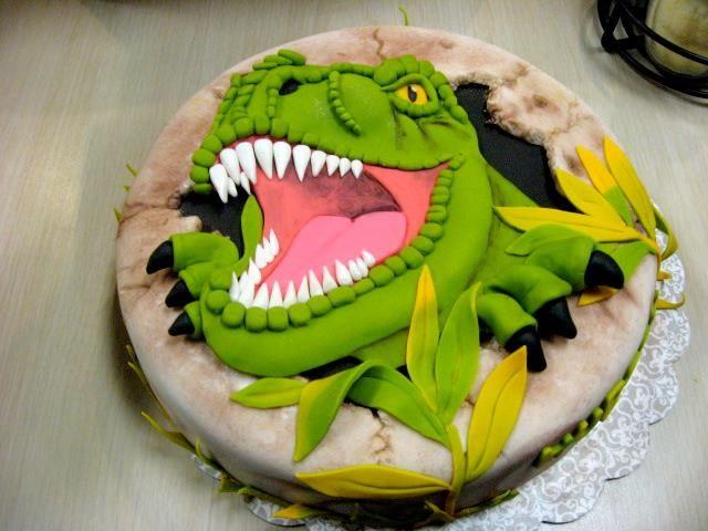 2D Dinosaur TRex cake 32915 by Qess on DeviantArt Dinosaurs