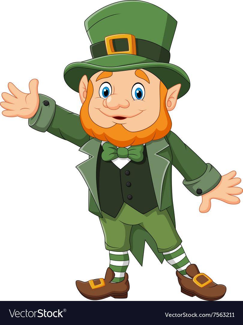 Cartoon Happy Leprechaun Waving Hand Royalty Free Vector Leprechaun Pictures Funny Leprechaun Toy Story Printables