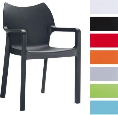 2er Set Hochwertiger Design Gartenstuhl DIVA Mit Armlehne, Stapelbar,  Wasserabweisend, UV Beständig