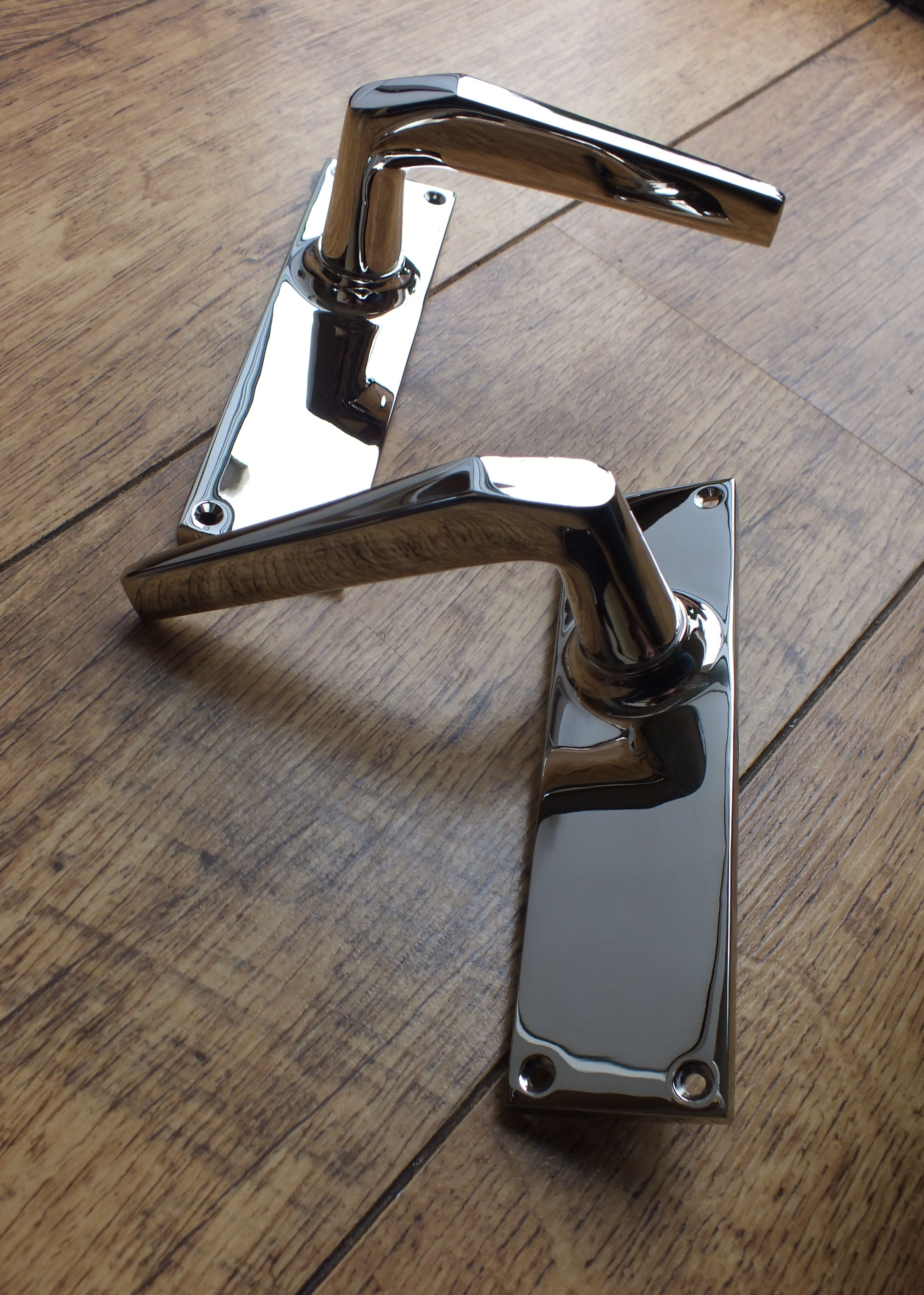 Polished Chrome Door Handles Contemporary polished