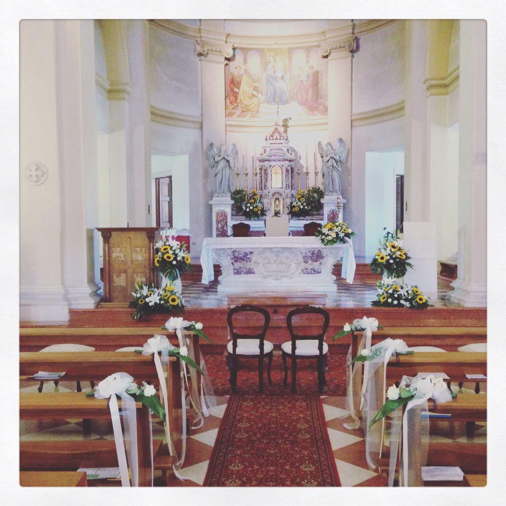 Girasoli Chiesa Per Matrimonio : Chiesa a padova con girasoli per un matrimonio settembre