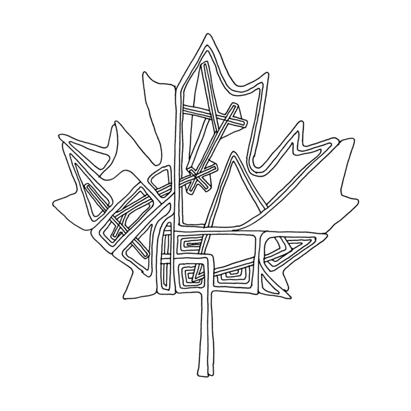Canadian Maple Leaf Colouring Page 5823